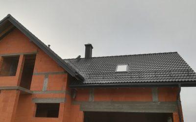 Braas dachówka cementowa Bałtycka- dom w Kurianach