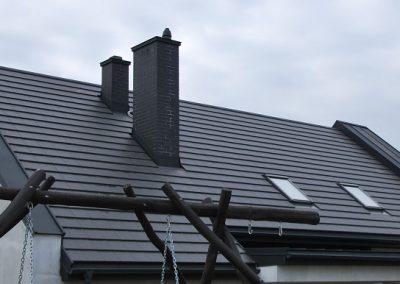 Dach z ogniomurem Panel PD 510 Pruszyński.