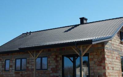 Dach modelowy z dachówką Braas Bałtycka grafit