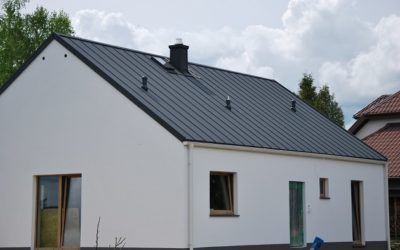 Dom z dachem blaszanym PD510 Pruszyński –  Nexmar i inwestycja  Nowym Aleksandrowie na zlecenie Hygge Hus!