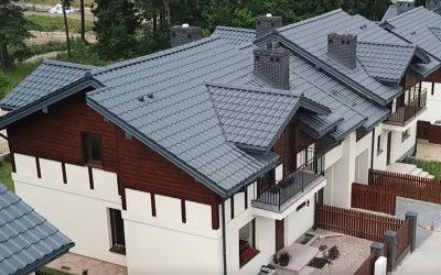 Krycie Dachów Nexmar – 16 Domów w Osowiczach z Dachami od Nexmar i Dachówką Creaton Titania Łupek Angoba