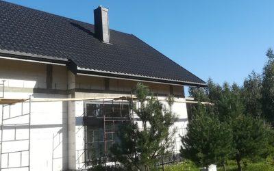 Dachy Białystok Nexmar –  GERMANIA ICE CRYSTAL Blacha Modułowa Blachotrapez Na Dachu Domu w Uhowie