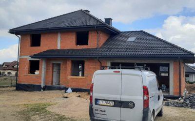 Nexmar Dachy Białystok Dach Pokryty Dachówką Braas Bałtycka Grafit Cisar