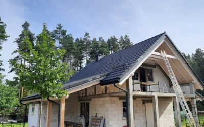 Nexmar Kompletne Pokrycia Dachowe Białystok – Dach z Dachówki Braas Bałtycka Grafit – Realizacja w Okolicy Studzianek